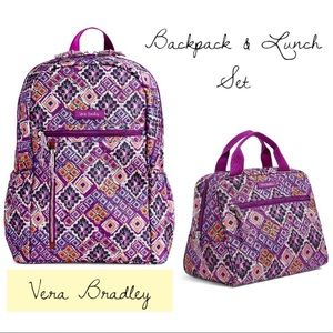 NWT Vera Bradley 2pc Backpack & Lunch Set